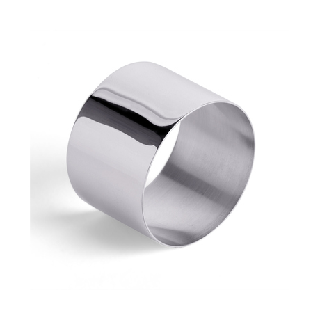 Silver Plate Straight Edge Napkin Ring