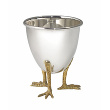 Sterling Silver Chicken Foot Egg Cup