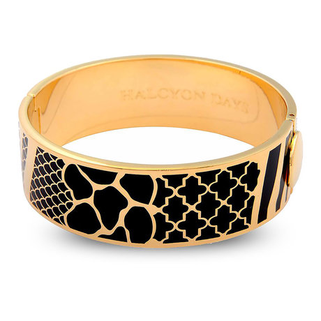 Wildlife Black and Gold Bangle