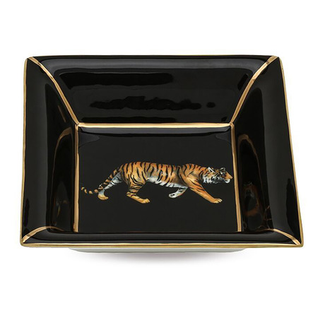 Tiger Square Tray Black