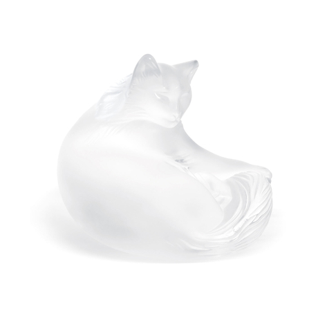 Lalique Happy Cat Figure