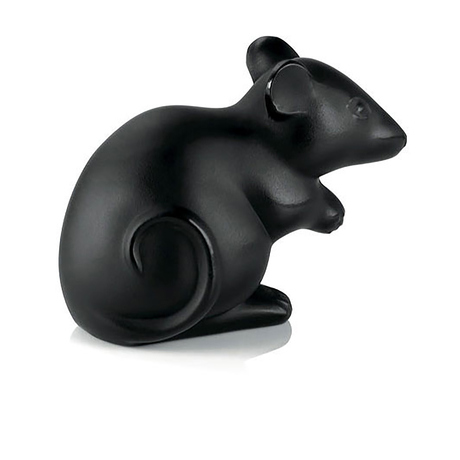 Lalique Black Mouse Figure