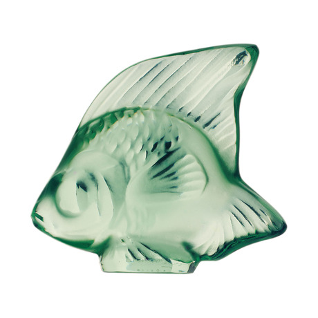 Lalique Light Green Fish Figure