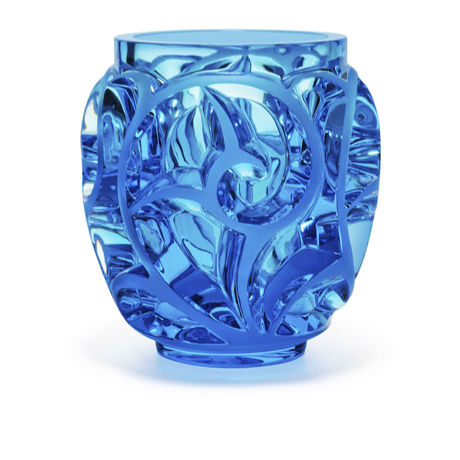 Lalique Tourbillon Light Blue Vase