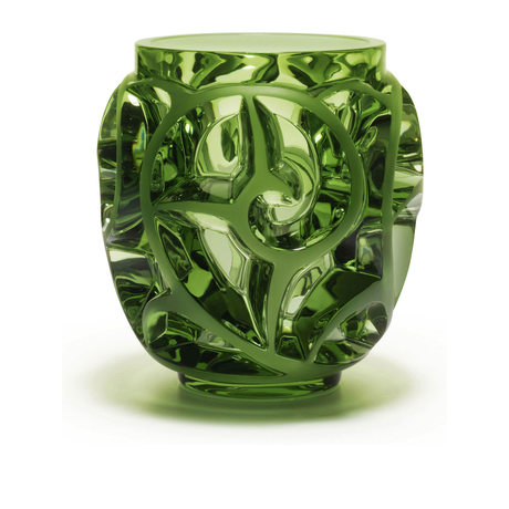 Lalique Tourbillon Light Green Vase