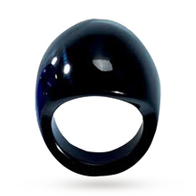 Lalique Gourmande Black Ring - Ring Size 55
