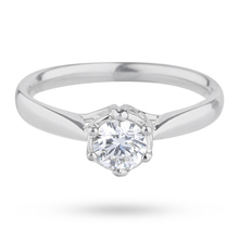 18 Carat White Gold 0.50 Carat Diamond Ring
