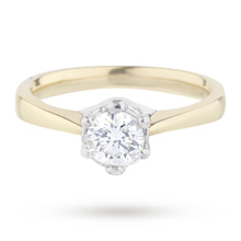 Brilliant Cut 0.50 Carat 6 Claw Diamond Solitaire Ring in 18 Carat Yellow Gold