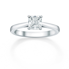 Assher Cut 1.00ct Diamond Engagement Ring