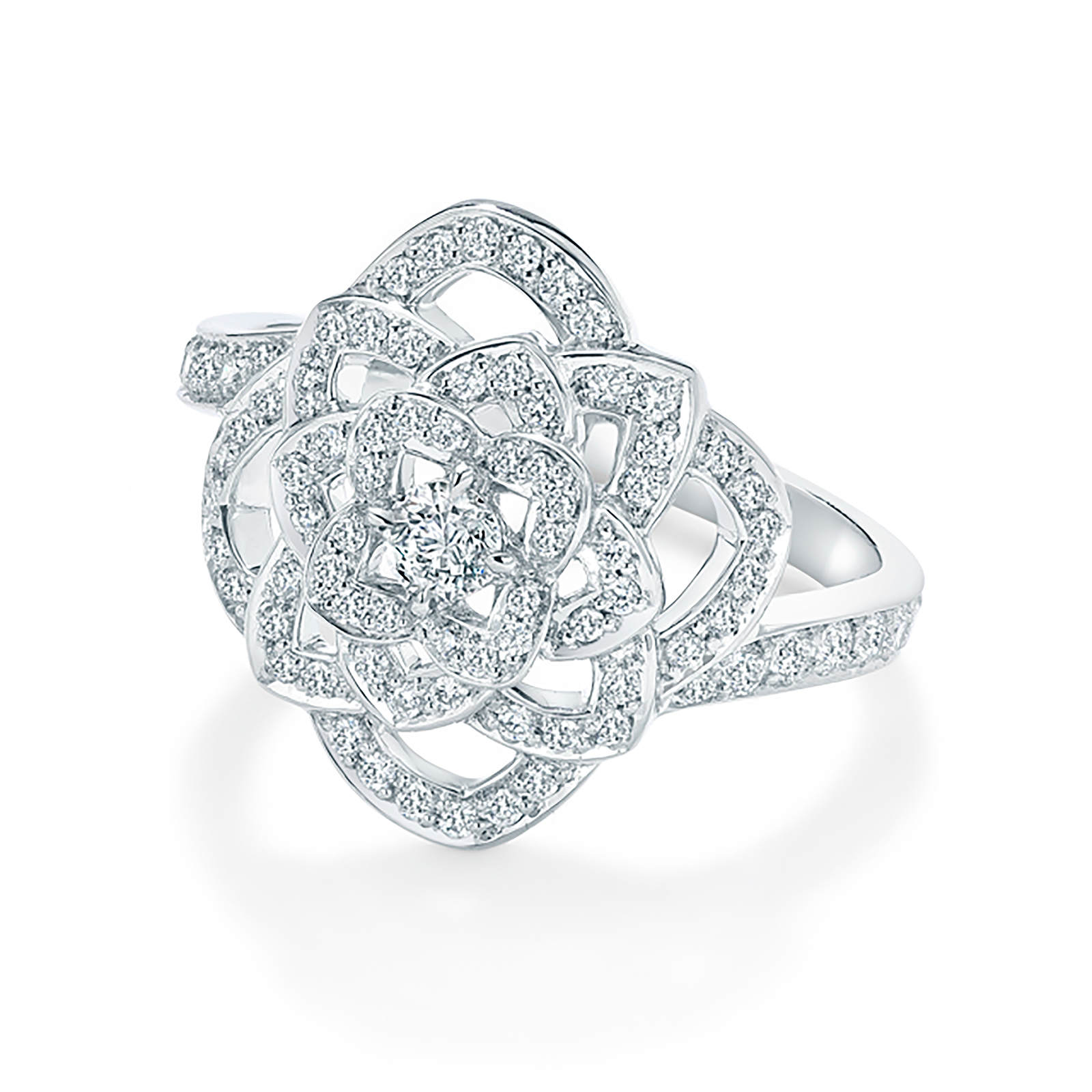 Floresco White Gold and Diamond Ring