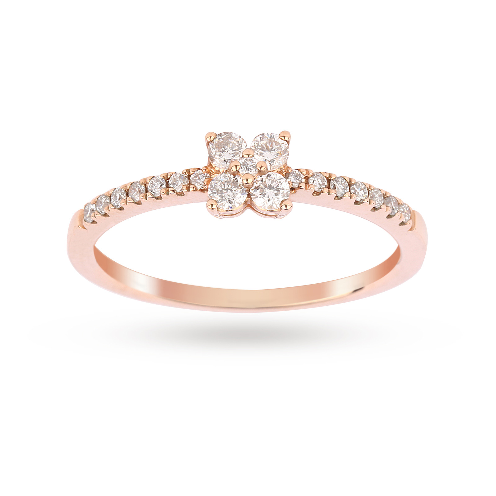 Brilliant Cut 0.30 Carat Total Weight Diamond Promise Engagement Ring in  9 Carat Rose Gold