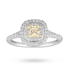 Canadian Ice Collection 0.92ct Yellow Diamond Set Ring in 18 Carat White Gold