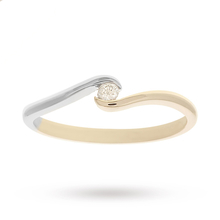 9ct Two Tone 0.05ct Engag Ring SIZE M