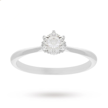 9 Carat White Gold 0.13 Carat Diamond Illusion Engagement Ring