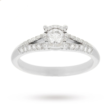 9 Carat White Gold 0.35 Carat Split Illusion Engagement Ring