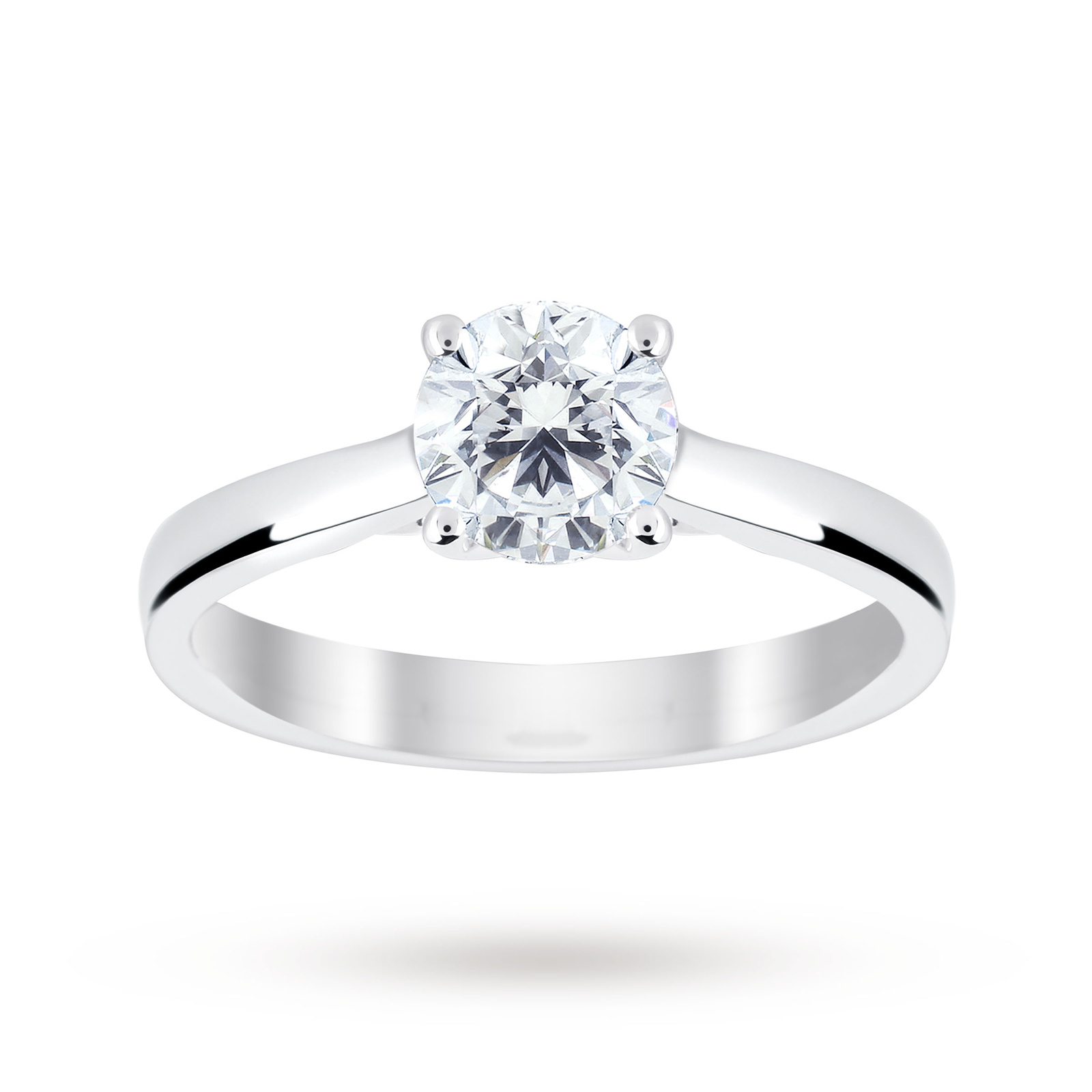 Platinum 1.00 Carat Diamond Solitaire Ring - Ring Size J