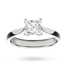 Platinum 1.00 Carat Princess Cut Diamond Solitaire Ring