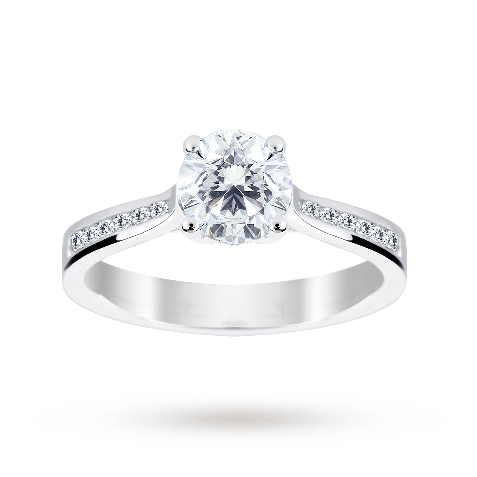 Platinum 1.18 Carat Diamond Solitare Ring - Ring Size J