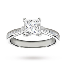 Platinum 1.18 Carat Princess Cut Diamond Solitare Ring
