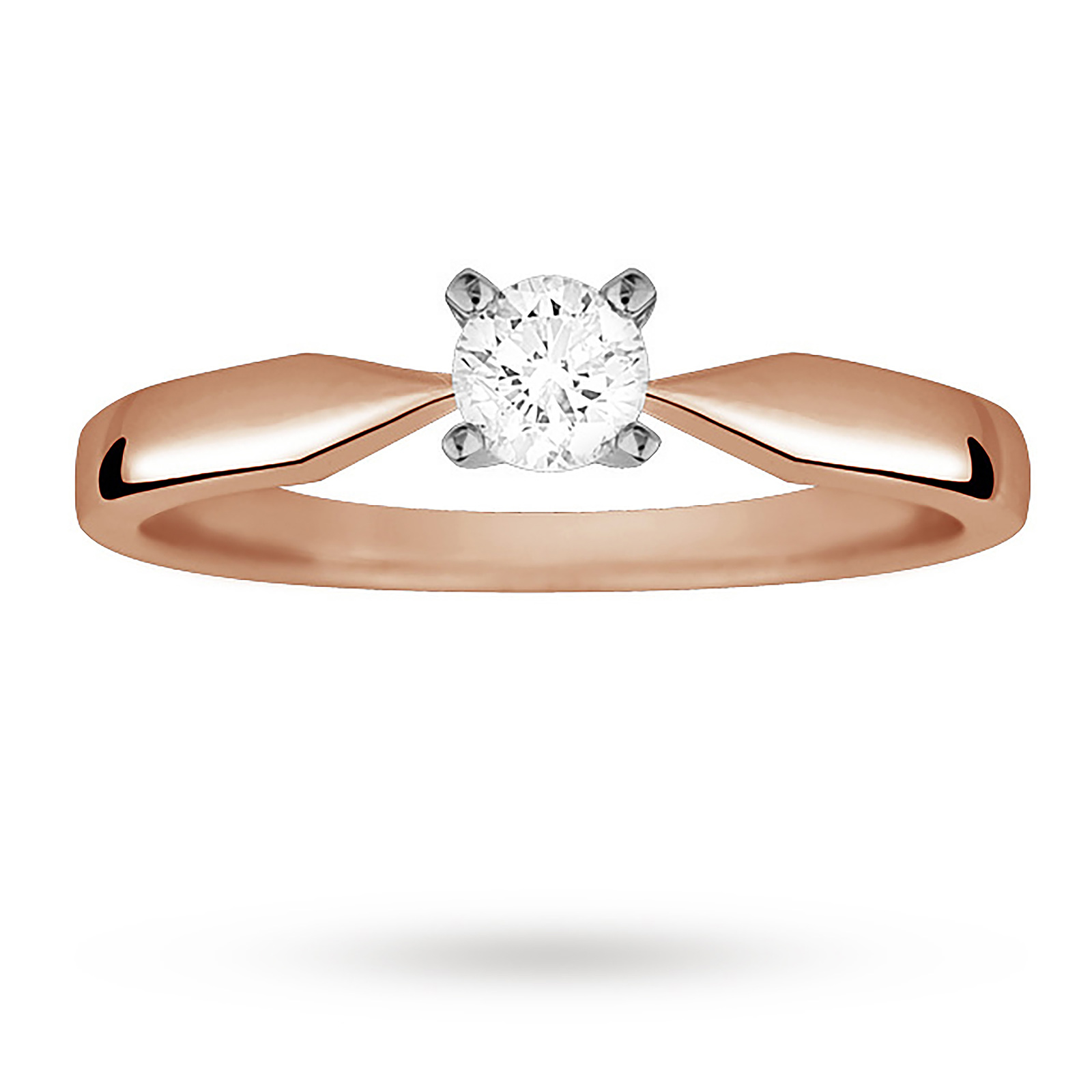 Brilliant Cut 0.20 Carat Solitaire Diamond Ring Set In 9 Carat Rose Gold