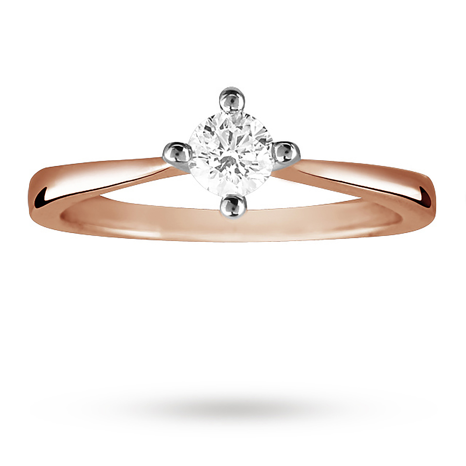 Brilliant Cut 0.25 Carat Solitaire Diamond Ring In 9 Carat Rose Gold