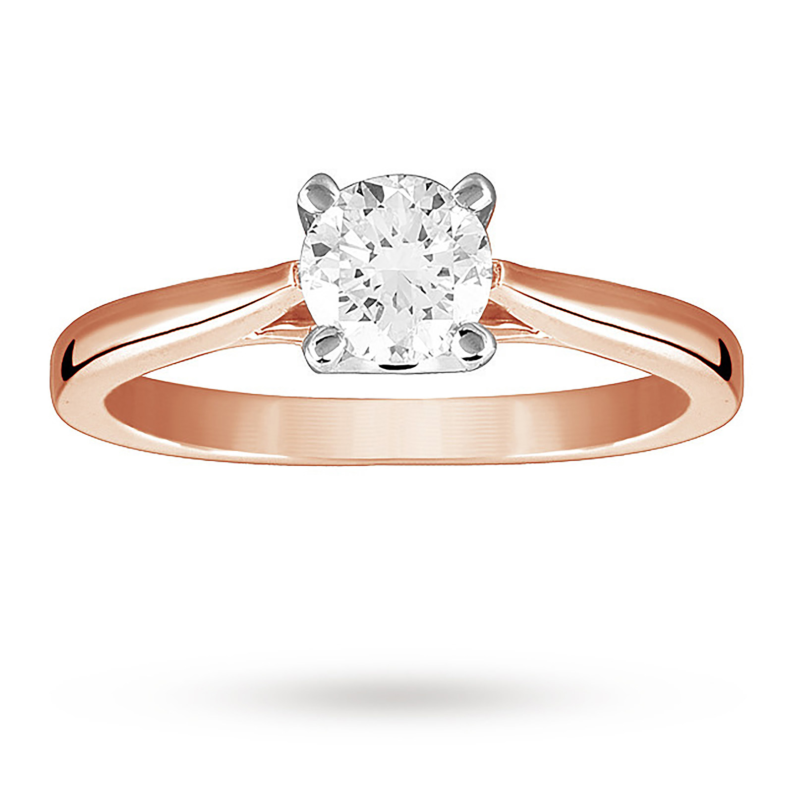 Solitaire Brilliant Cut 0.70 Carat Diamond Ring Set In 18 Carat Rose Gold