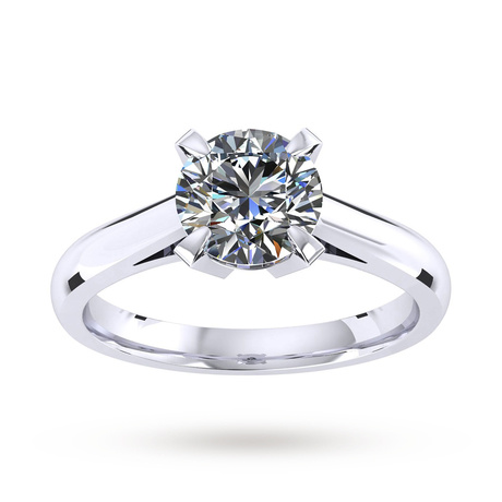 Belvedere Platinum 0.85ct Diamond Engagement Ring