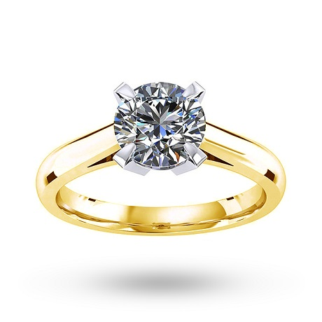 Belvedere 18ct Yellow Gold 1.00ct Diamond Engagement Ring
