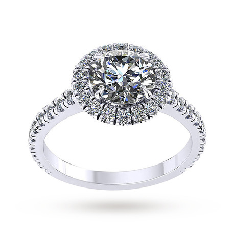 For Her - Mappin & Webb Amelia Engagement Ring With Diamond Band 0.50 Carat Total Weight - M06016588