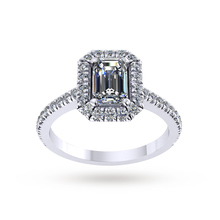 Mappin & Webb Alba Engagement Ring With Diamond Band 1.15 Carat Total Weight