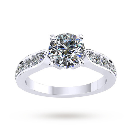 For Her - Mappin & Webb Boscobel Engagement Ring With Diamond Band 0.71 Carat Total Weight - M06016599