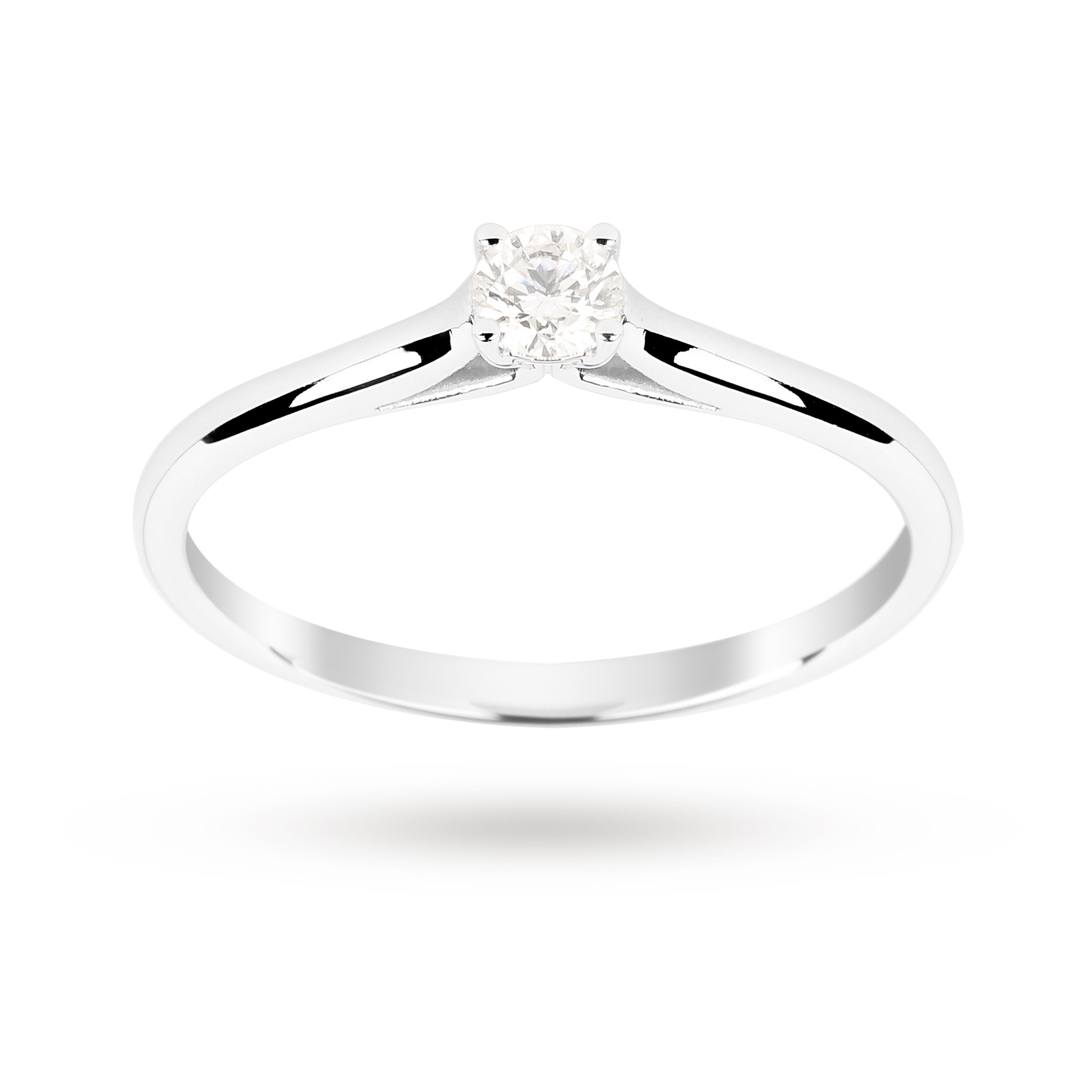 9ct White Gold 0.15ct Diamond Engagement Ring