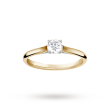 Brilliant Cut 0.33ct 4 Claw Diamond Solitaire Ring In 9ct Yellow Gold