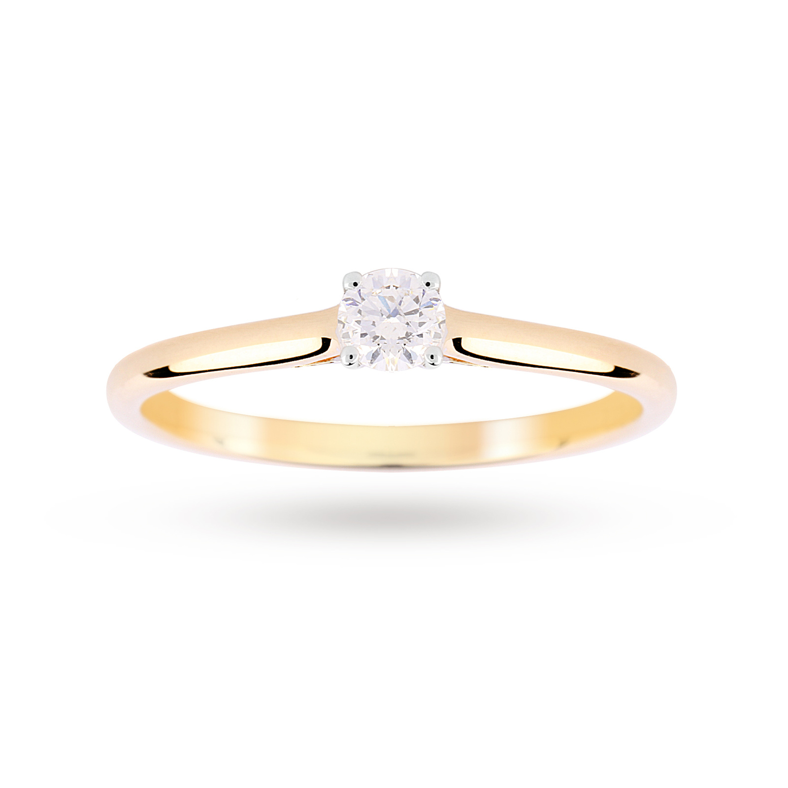9ct Yellow Gold 0.15ct Diamond Engagement Ring