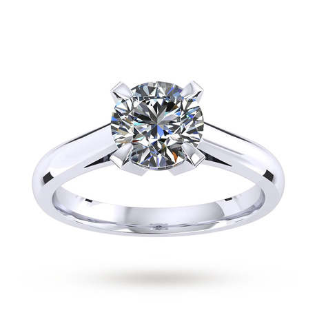 Sweet Belvedere Platinum 0.50ct Diamond Engagement Ring