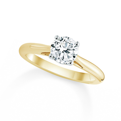 Silhouette 18ct Yellow Gold Engagement Ring