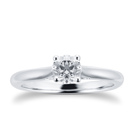 Silhouette 18ct White Gold Engagement Ring