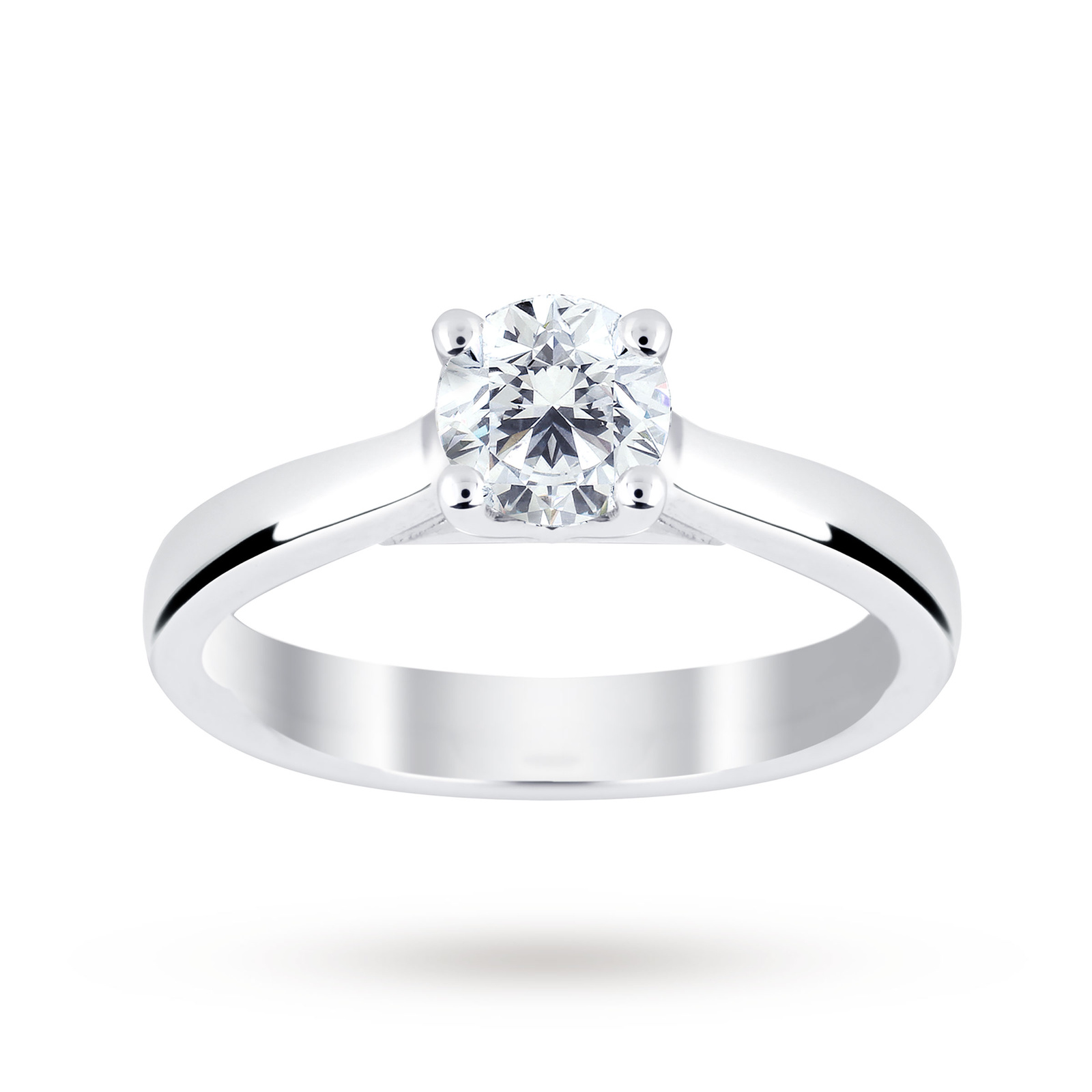 Platinum 0.50ct Diamond Brilliant Cut D Colour Ring