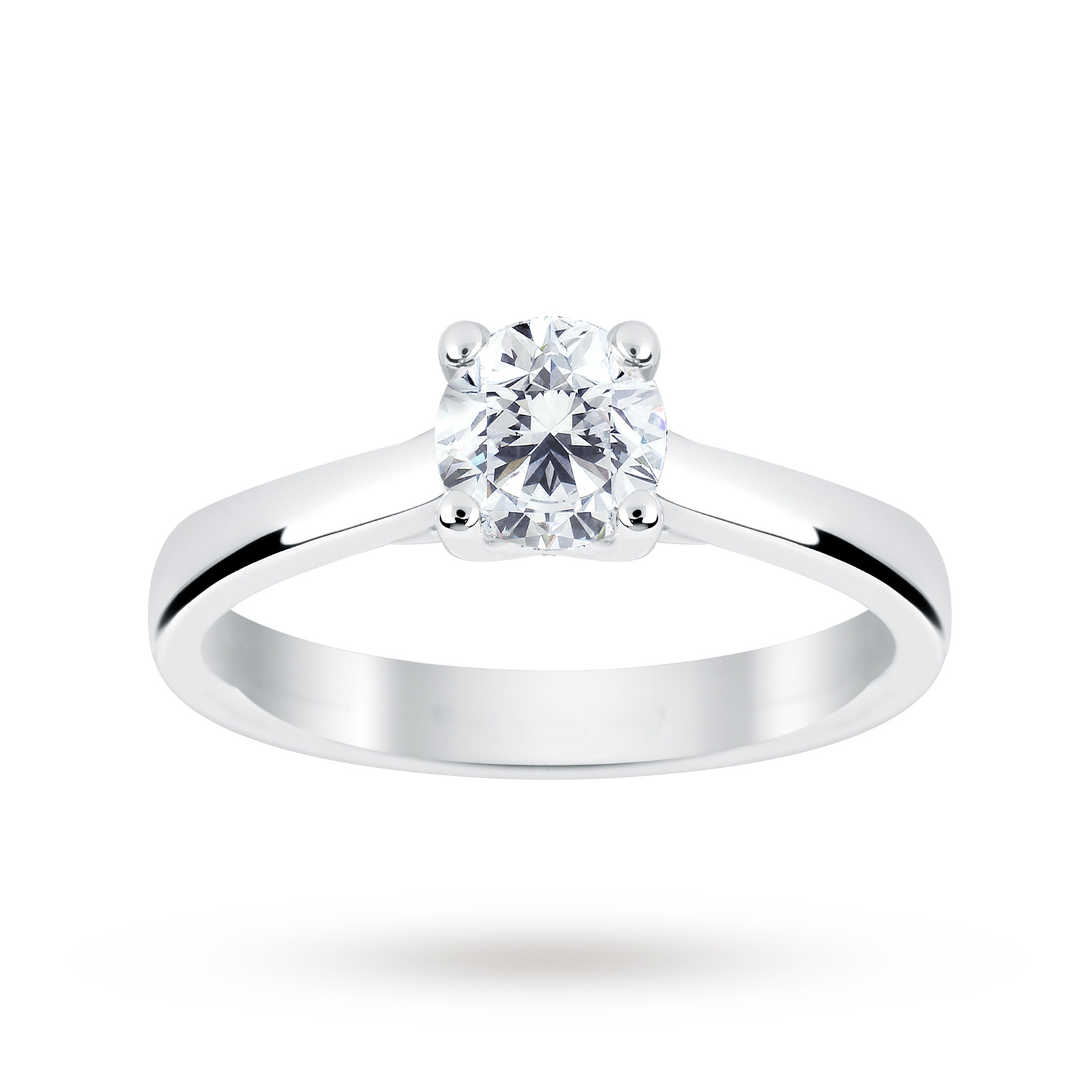 Platinum 0.70ct Diamond Brilliant Cut D Colour Ring