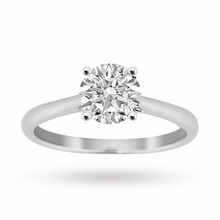 Brilliant Cut 0.70 Carat Solitaire Ring in Platinum