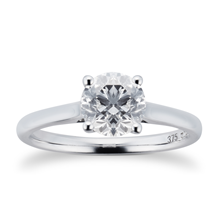 Brilliant Cut 1.00ct 4 Claw Diamond Solitaire Ring In 9ct White Gold