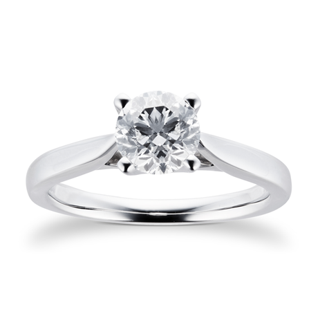 Platinum Brilliant Cut 1.00 Carat 88 Facet Diamond Ring - M06017278