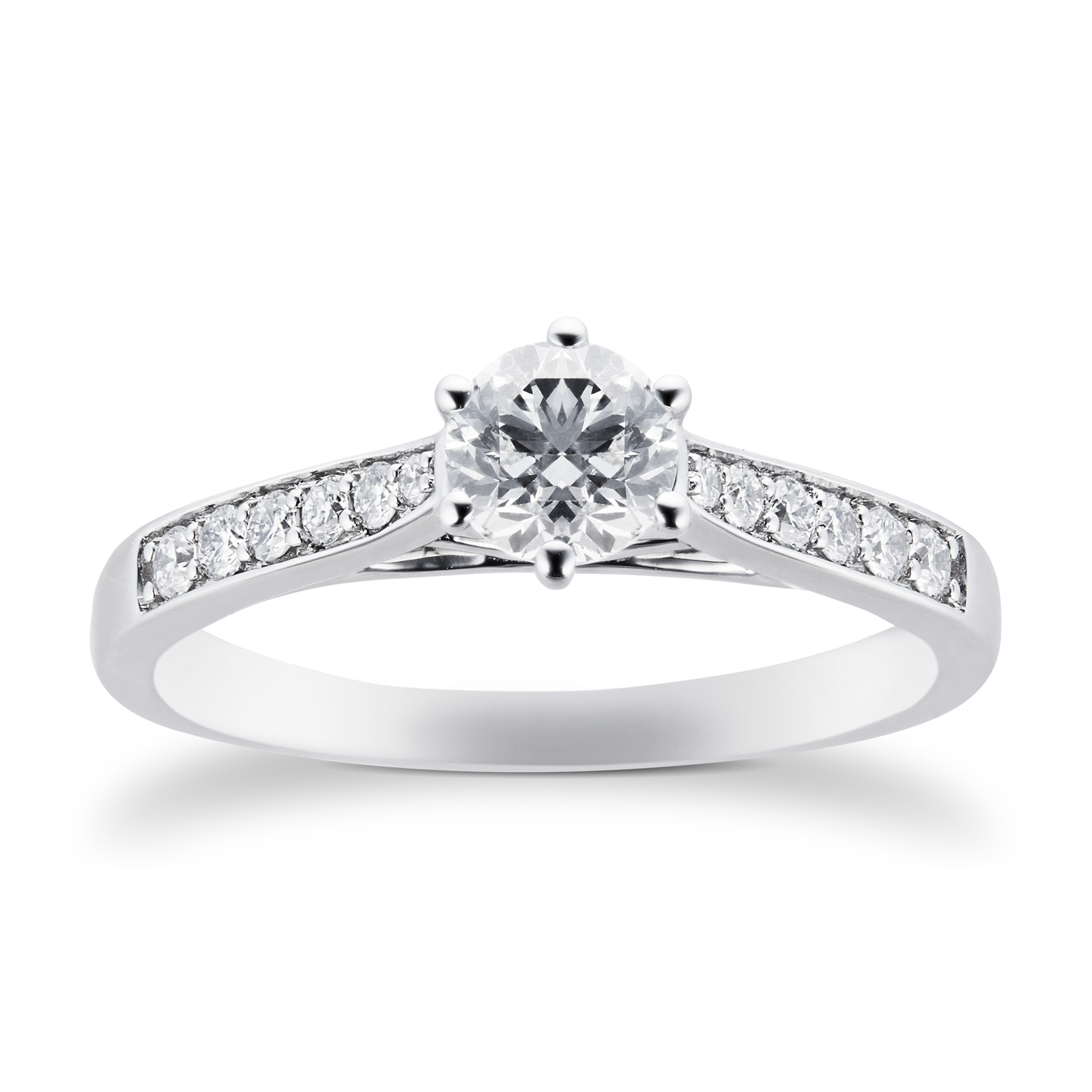 Platinum Brilliant Cut 0.65 Carat 88 Facet Diamond Ring