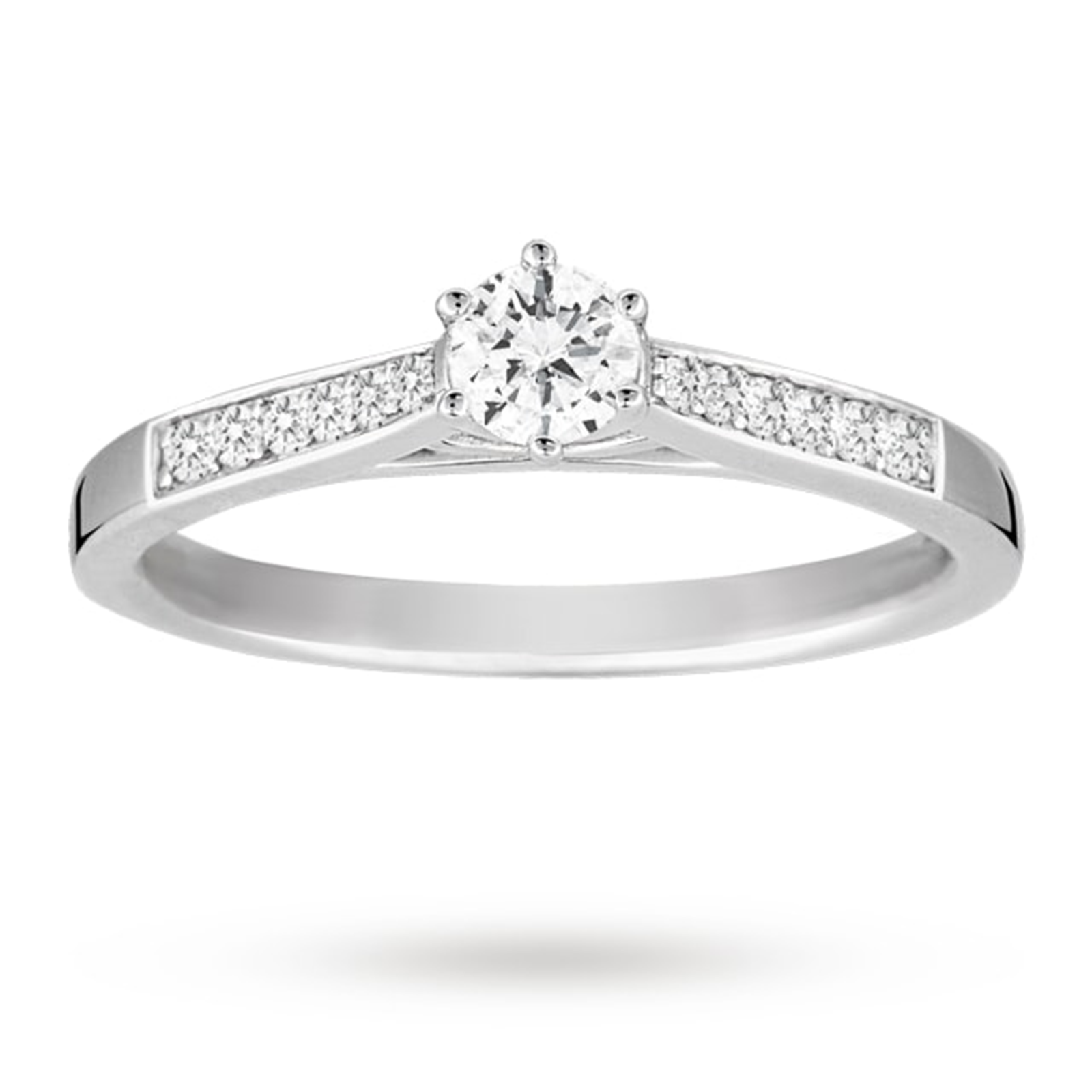 Platinum Brilliant Cut 0.33 Carat 88 Facet Diamond Ring