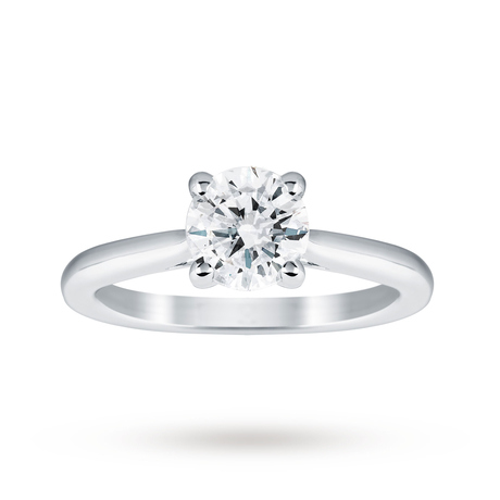 18ct White Gold 1.00ct Diamond Solitaire Ring - M06017325