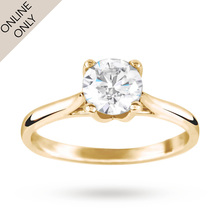 Brilliant Cut 1.00 Carat Solitaire Ring in 18 Carat Yellow Gold