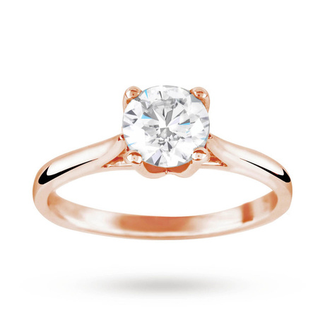 Brilliant Cut 1.00 Carat Solitaire Ring in 18 Carat Rose Gold