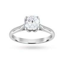 Brilliant Cut 1.00 Carat Solitaire Ring in Platinum