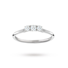 Brilliant Cut 3 Stone 0.25 Carat Diamond Engagement Ring in 9 Carat White Gold