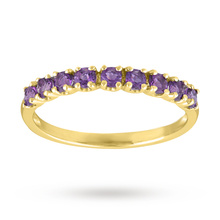 Amethyst Eternity Ring in 9 Carat Yellow Gold